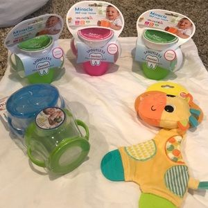 New, unopened baby supplies